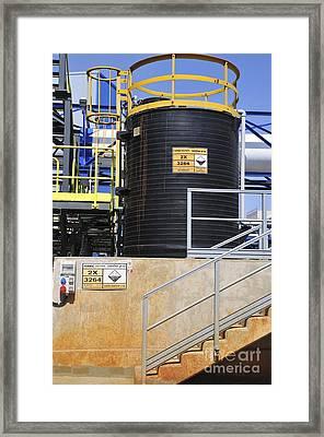 Ferric Sulfate Tank Framed Print