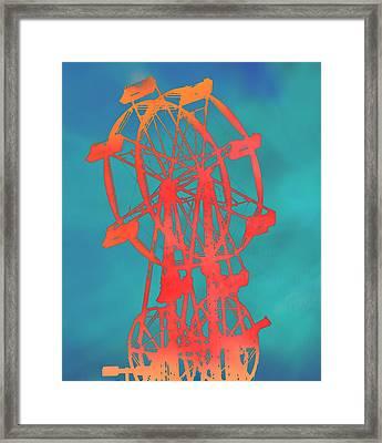 Ferris Wheel Pop Art Framed Print
