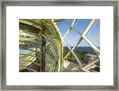 Fesnel Lens Of The Devils Island Framed Print by Chuck Haney