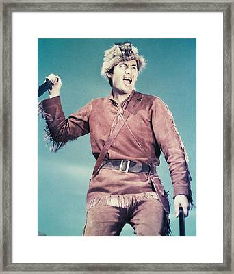 Fess Parker In Davy Crockett, King Of The Wild Frontier  Framed Print
