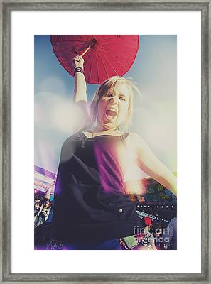 Festival Fun Female Framed Print by Jorgo Photography - Wall Art Gallery