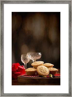 Festive Mince Pies Framed Print by Amanda Elwell