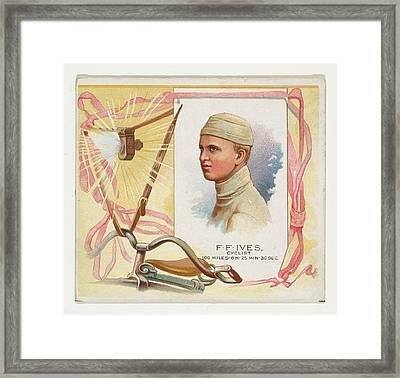 F.f. Ives, Cyclist, From Worlds Framed Print