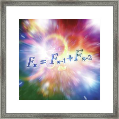 Fibonacci Sequence Equation Framed Print by Alfred Pasieka