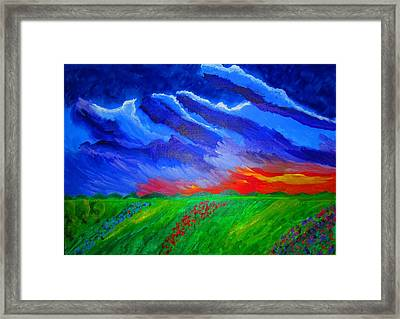 Field Of Flowers Framed Print by Haleema Nuredeen