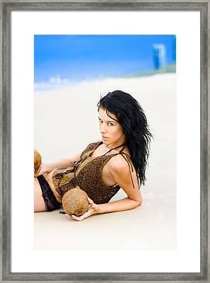 Fierce Beach Babe Framed Print