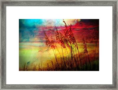 Fiery Sunrise  Framed Print by Kathy Jennings