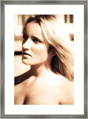 Fifties Dream Girl Framed Print by Jorgo Photography - Wall Art Gallery
