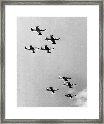 Fighter Jets Framed Print by Retro Images Archive