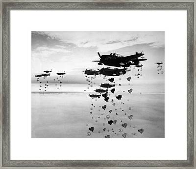 Fighting For Peace And Love Framed Print by Celestial Images