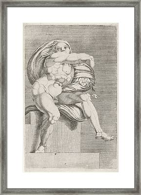 Figure From The Sistine Chapel, Attributed To Dirck Framed Print by Dirck Volckertsz Coornhert