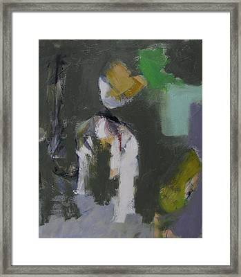 Framed Print featuring the painting Figures by Fred Smilde