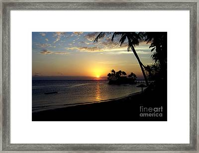 Fijian Sunset Framed Print