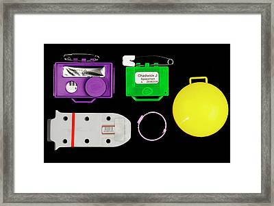 Film Badge Radiation Dosimeters Framed Print by Public Health England
