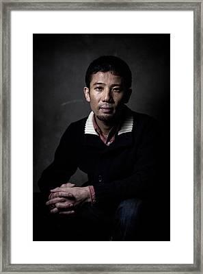 Film Director Shuhei Morita Portrait Framed Print by Chris Mcgrath