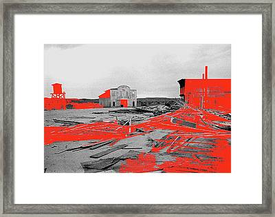 Film Homage High Plain Drifter 1973 Monte Walsh Set Windstorm Mescal Arizona 1969-2012 Framed Print