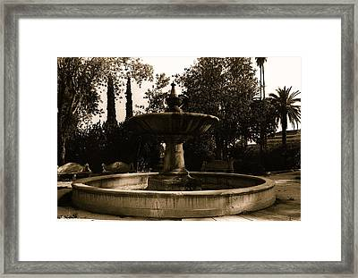 Film Noir Mary Astor A Kiss Before Dying Fountain El Paso And Southwestern Rr Depot Tucson Arizona Framed Print by David Lee Guss