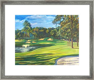 Final Hole At Walden On Lake Conroe Framed Print by Frank Giordano