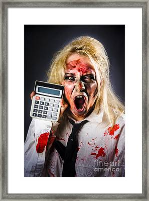 Finance Tax Accountant. Return From The Dead Framed Print