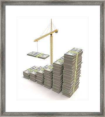 Financial Growth Framed Print by Ktsdesign