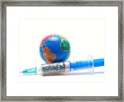 Financial Injection Framed Print