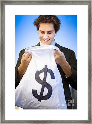 Financial Reward Of Business Success Framed Print by Jorgo Photography - Wall Art Gallery