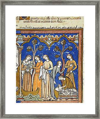 Finding Of Moses Framed Print by Granger