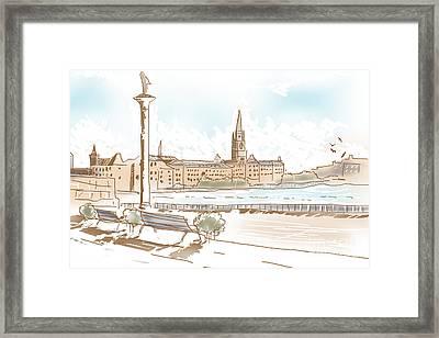 Fine Art Landscape Sketch Of Stockholm Sweden  Framed Print by Jorgo Photography - Wall Art Gallery