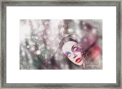 Fine Art Woman In Light Of Spiritual Awakening Framed Print