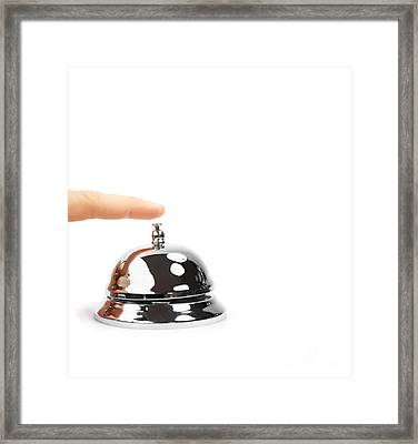 Finger Pushing Service Bell Framed Print by Jorgo Photography - Wall Art Gallery