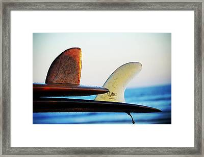 Fins Up Framed Print by Hal Bowles