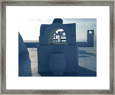 Fira View Santorini Greece Framed Print