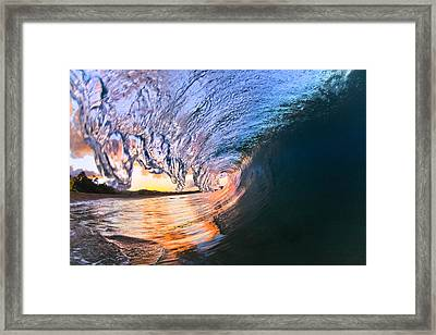 Fire And Ice Framed Print by Sean Davey