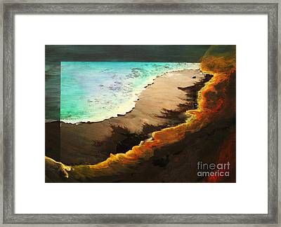 Framed Print featuring the mixed media Fire And Water by Jeanette French