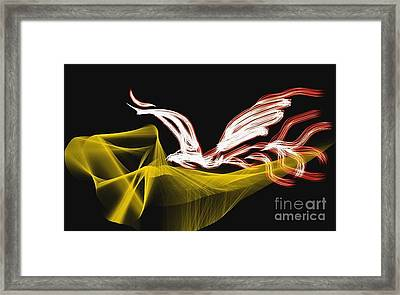 Fire Bird Framed Print