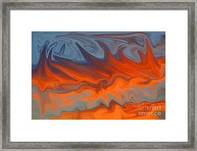 Fire Framed Print by Carol Lynch