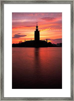 Fire In The Sky Framed Print by Viacheslav Savitskiy