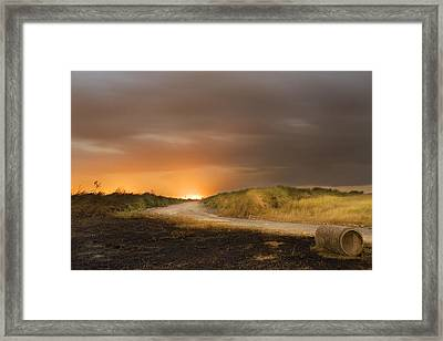 Fire On The Horizon Framed Print