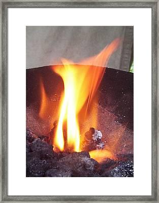 Fire Framed Print by Ramon Labusch