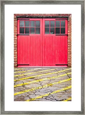 Fire Station Framed Print by Tom Gowanlock