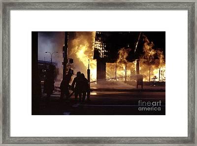 Framed Print featuring the digital art Fire by Steven Spak