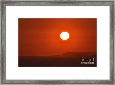 Fire Framed Print by Sue Rosen
