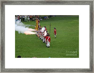 Fire Framed Print by Victoria  Dauphinee