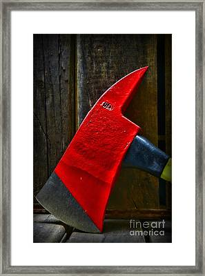 Fireman - The Fire Axe Framed Print by Paul Ward