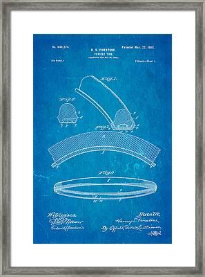 Firestone Vehicle Tire Patent Art 1900 Framed Print by Ian Monk