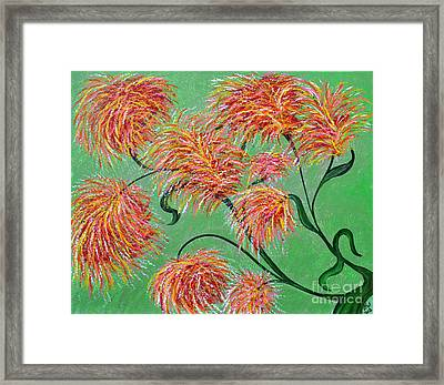 Framed Print featuring the painting Fireworks by Alys Caviness-Gober