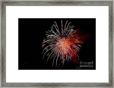 Fireworks Framed Print by Grace Grogan