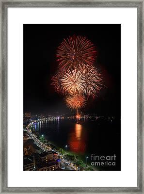 Fireworks New Year 2014 - 2015 Celebration Framed Print