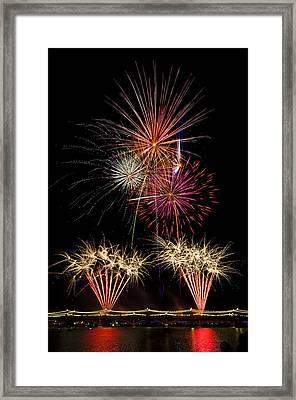 Fireworks  Framed Print by Saija  Lehtonen