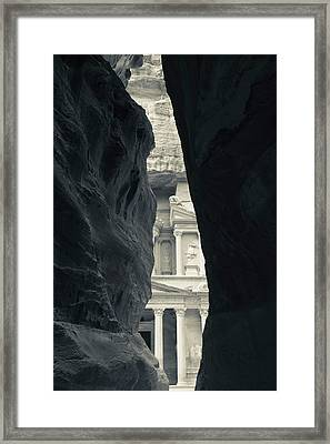 First Glimpse Of The Red Sandstone Framed Print
